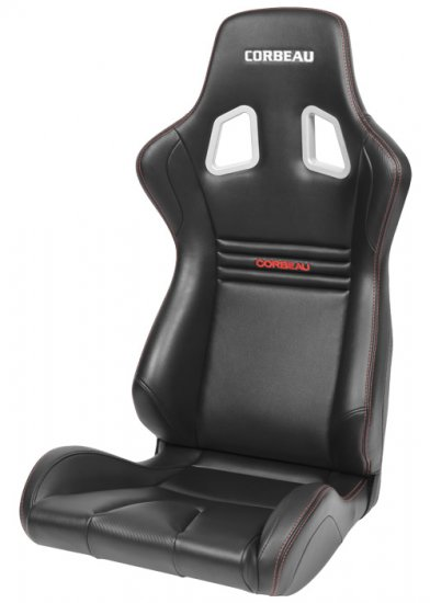Corbeau Sportline Evolution X Fixed Back Seat in Black Carbon Vinyl - Click Image to Close