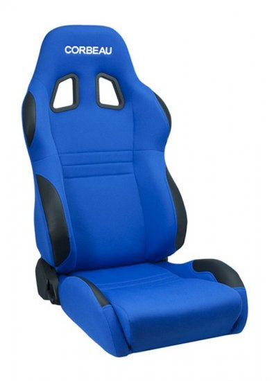Corbeau A4 Reclinable Seat in Blue Cloth - Click Image to Close