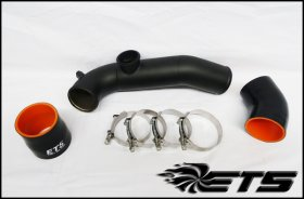 ETS Wrinkle Black Charge Pipe Upgrade BMW 135i N54 2008-2010