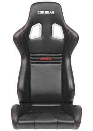 Corbeau Sportline Evolution X Fixed Back Seat in Black Carbon Vinyl