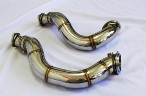 "CNT Racing 3"" Stainless Steel Catless Downpipes for 2007 - 2011 BMW 135i 335i N54"