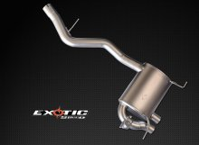 "Exoticspeed S1 Exhaust N54 N55 3"" Catback Dual carbon tips BMW 135i 2008 - 2013"