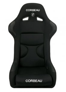 Corbeau FX1 PRO Fixed Back Seat in Black CLOTH