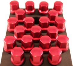TPI 20pc RED Duralumin Head 28mm Locking Maca BMW 12x1.5 Wheel Bolts