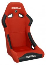 Forza Fixed Back Racing Seat Red Cloth