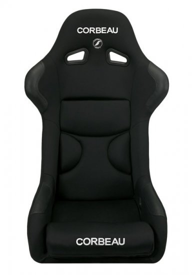 Corbeau FX1 PRO Fixed Back Seat in Black CLOTH - Click Image to Close
