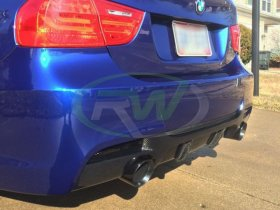 RW Carbon BMW E90 M Tech Performance Style CF Single outlet Diffuser