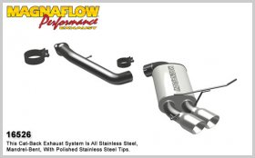 Magnaflow Stainless Axleback System PERFORMANCE EXHAUST BMW 135I 2008 - 2013