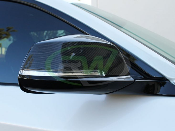 RW Carbon Fiber Mirror Replacements BMW F22 2 Series 228i M235i - Click Image to Close