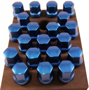 TPI 20pc BLUE Duralumin Head 28mm Maca BMW 12x1.5 Wheel Bolts