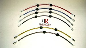 Evolution Racewerks STANDARD Stainless Steel Brake Line Upgrade Kit BMW 135I 335I M3