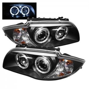 Spyder Auto Black Projector LED Halo Headlights BMW 1 Series