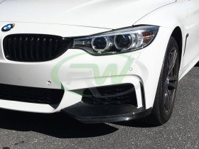 RW Carbon BMW F32 F33 Performance Style Carbon Fiber Splitters