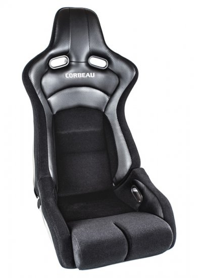 Corbeau Sportline RRB Reclinable Seat in Black Carbon Vinyl - Click Image to Close