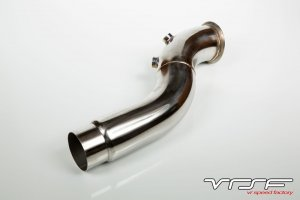 "VRSF 3.5"" Stainless Steel Catless Downpipe for F10 F11 F07 535i xi F12 F13 640i E70 E71 X5 X6"