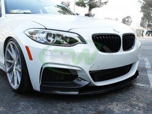 RW Carbon BMW F22 Performance Style Carbon Fiber Front Lip 228i M235i 2014 - 2016
