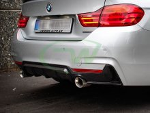 RW Carbon BMW F32 F33 F36 Performance Style Dual Outlet Carbon Fiber Diffuser