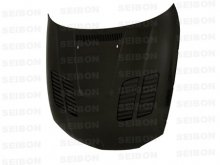 Seibon GTR style carbon fiber hood for 2008 - 2012 BMW E82