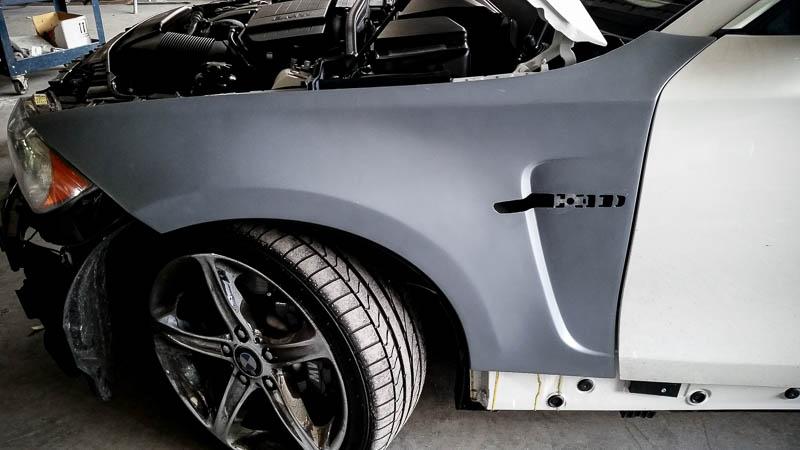 N5 Tuner Fiberglass Wide Front Fenders 1 Series E82 E88