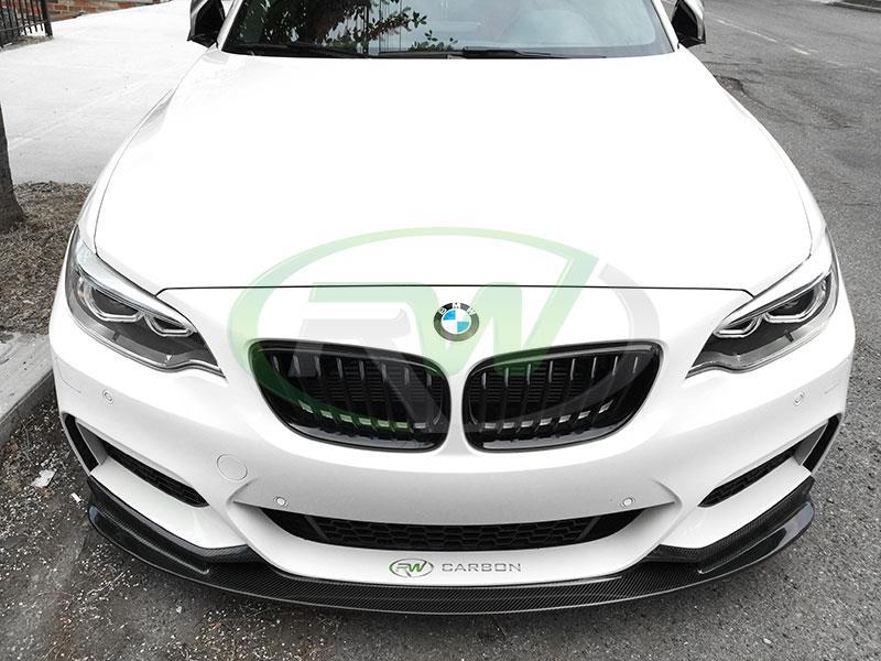 a1602ac351f RW Carbon Fiber Front Lip Spoiler BMW F22 2 Series 228i M235i ...